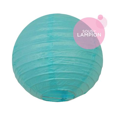 Mini lanterne papier turquoise pour une décoration murale bébé