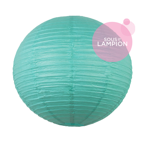 Large aqua paper lantern for wedding decoration