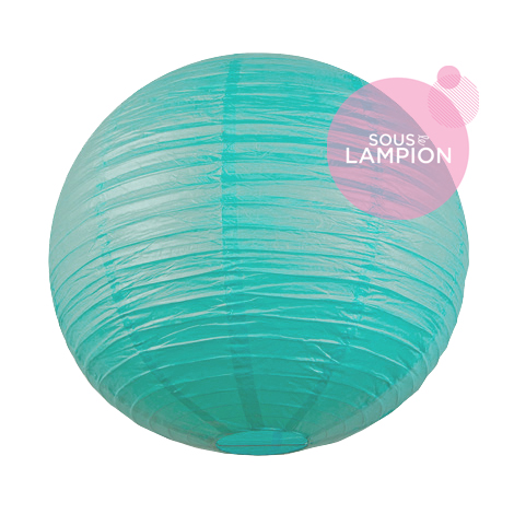 very large aqua wedding paper lantern