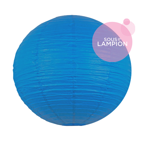 Large blue paper lantern for wedding decor