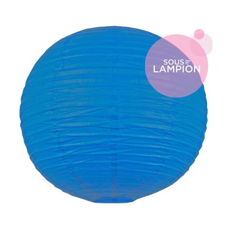 lanterne chinoise bleu vif pour un mariage ou une composition de lampions