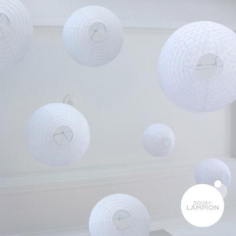 White wedding - set of 9 paper lanterns