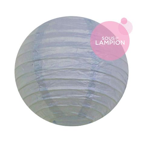 Paper lantern - 15cm - Feather blue