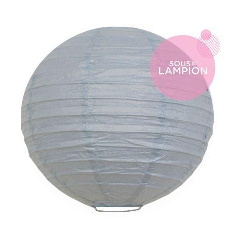 petite lanterne chinoise bleu gris
