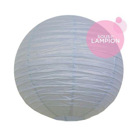lanterne chinoise en papier bleu gris