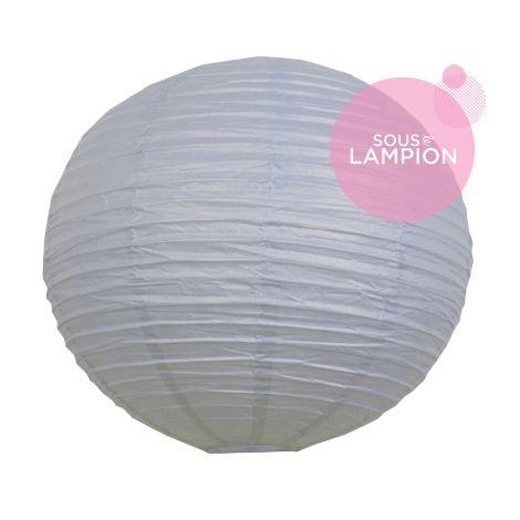 grande lanterne en papier bleu gris