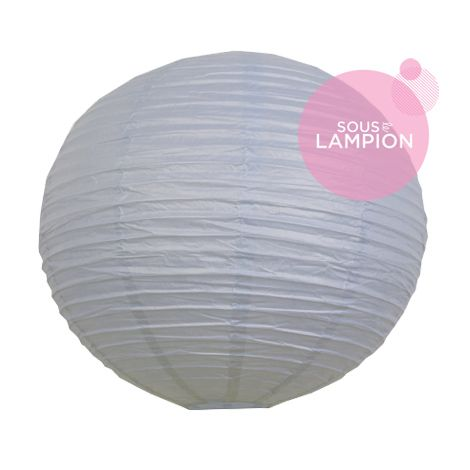 Paper lantern - 50cm - Feather blue