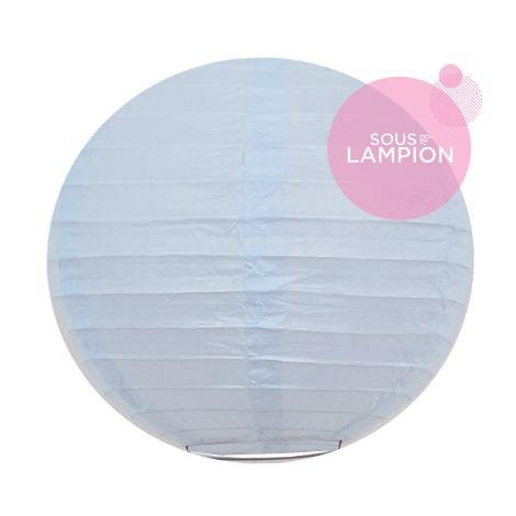 mini lanterne en papier bleu ciel