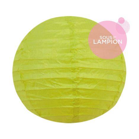mini lanterne en papier citron vert