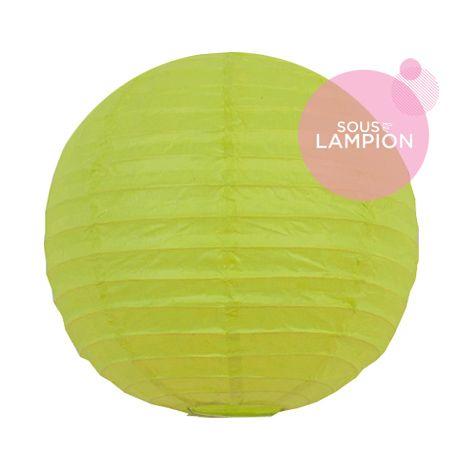 petite lanterne en papier citron vert