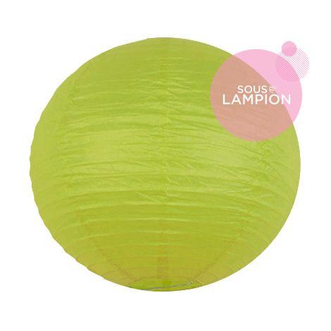 lanterne en papier citron vert