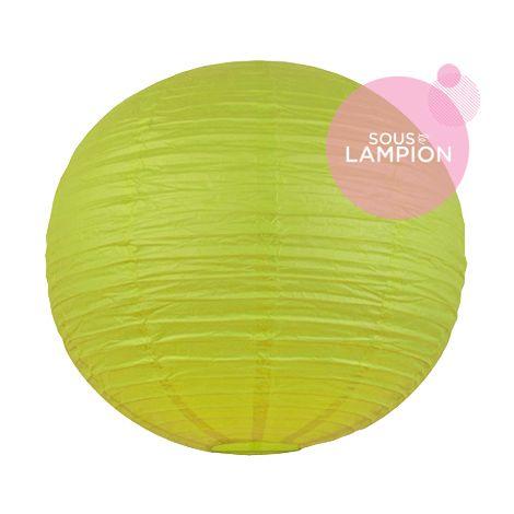 tres grande lanterne mariage citron vert