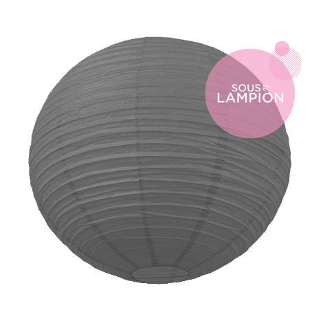 Grande lanterne gris foncé pour décoration mariage