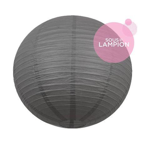 tres grande lanterne en papier gris fonce pour deco mariage