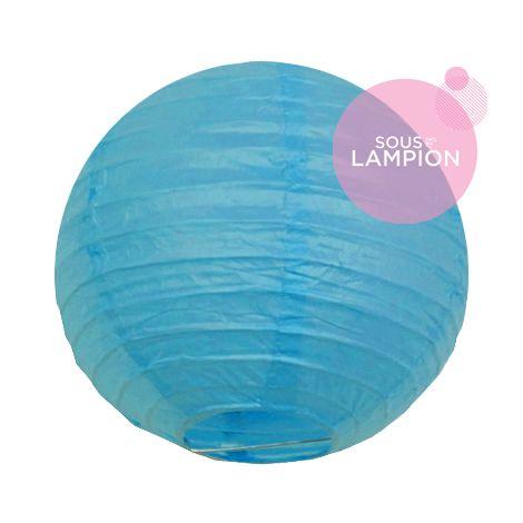 mini lanterne en papier turquoise deco enfant