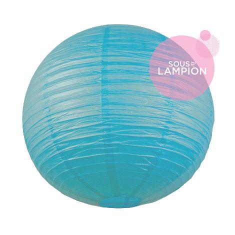 maxi lanterne bleu turquoise deco mariage