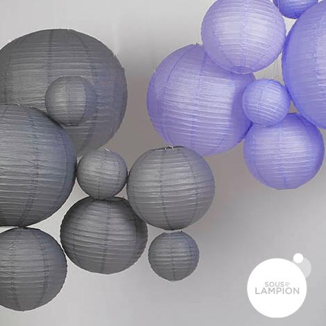 lanternes en papier grises