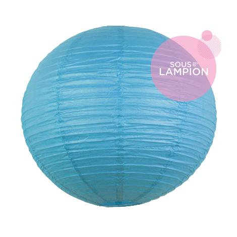 grande lanterne bleu turquoise pour deco mariage