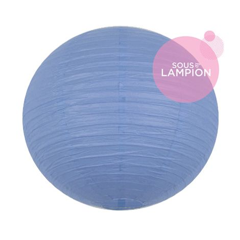 grande lanterne en papier bleu pâle