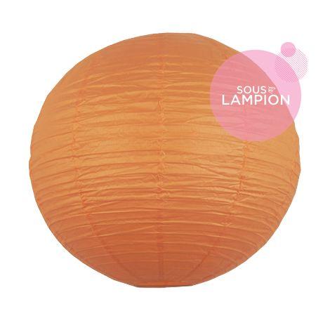 grande lanterne mariage orange