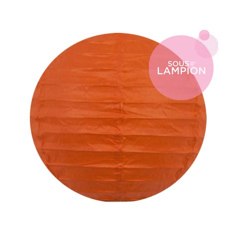 mini lanterne papier orange vif