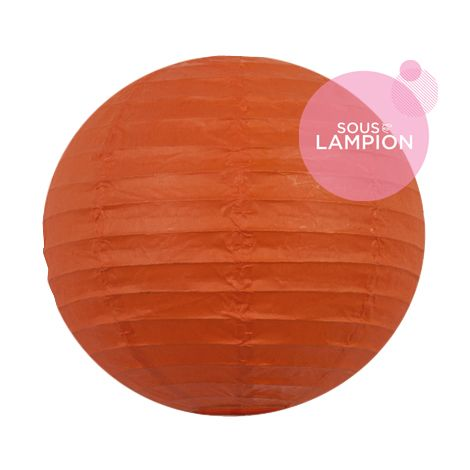 petite lanterne en papier orange vif