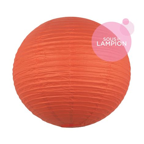 Grande lanterne chinoise orange vif