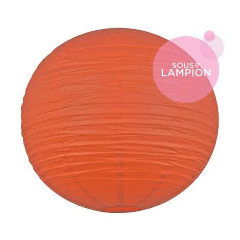 tres grande lanterne chinoise orange vif