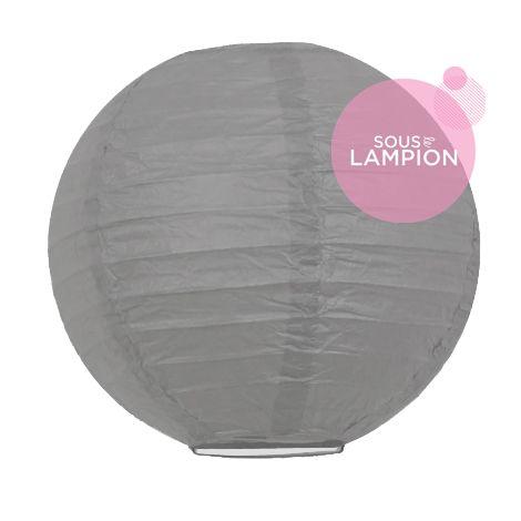 mini lanterne papier gris