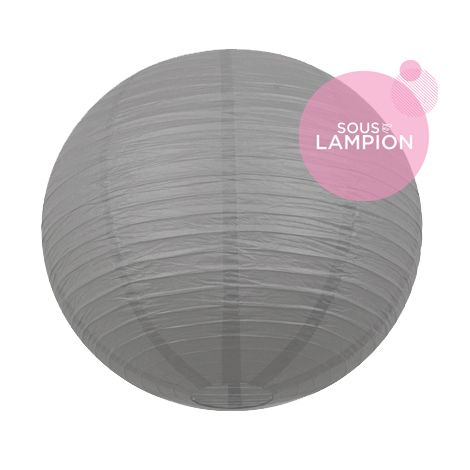 tres grande lanterne papier mariage gris