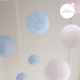 pink and blue wedding decor