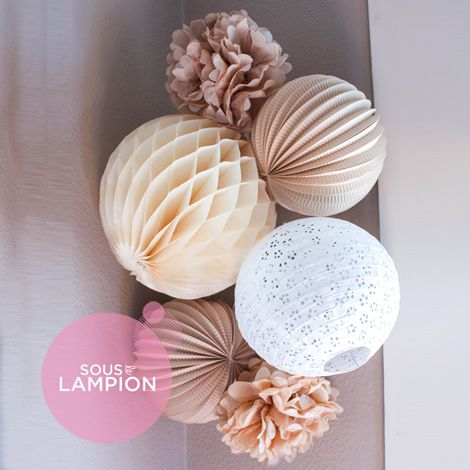 Paper lanterns kit - AMELIE
