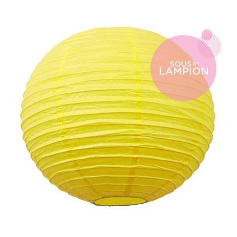 Lanterne chinoise - 35cm - Jaune sunshine