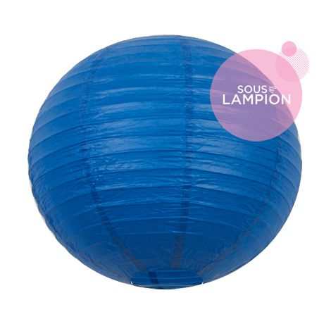 Lanterne en papier bleu