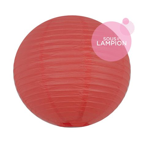 Lanterne en papier rouge corail pour une décoration de salle de mariage ou de chambre