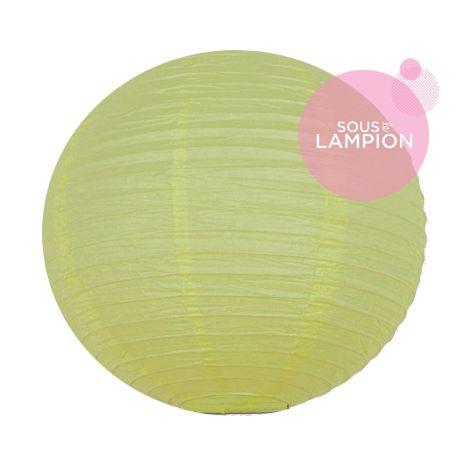 Lanterne en papier jaune pastel pour une décoration de salle de mariage ou de chambre