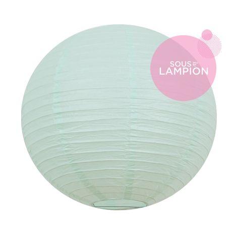 Lanterne en papier menthe pastel pour une décoration de salle de mariage ou de chambre