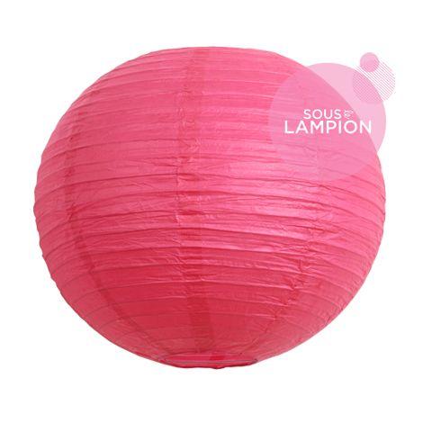 Lanterne en papier rose fluo pour une décoration de salle de mariage ou de chambre