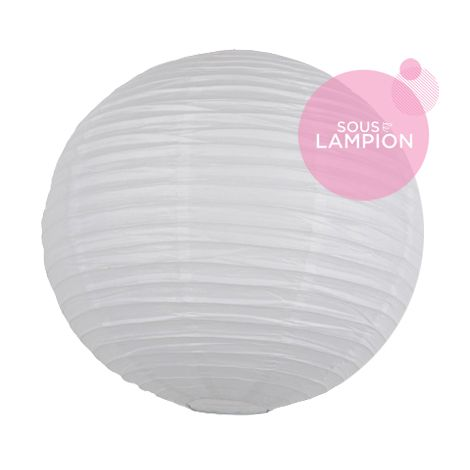 Lanterne chinoise - 35cm - Blanche