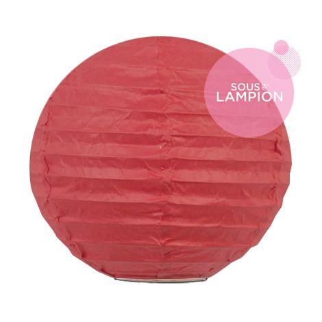 Mini lanterne en papier rouge pour déco chambre ou fête