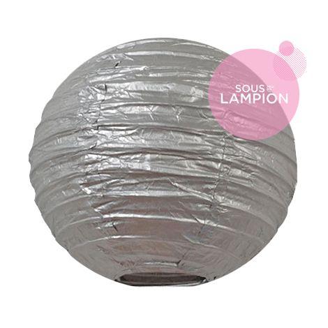 Mini lanterne en papier argenté