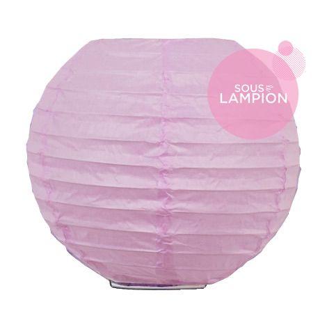 mini boule papier deco chambre rose parme
