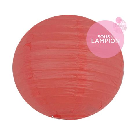 Paper lantern - 15cm - Coral red