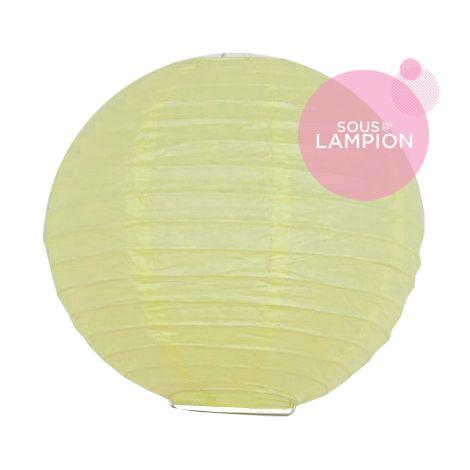 mini boule en papier jaune pastel