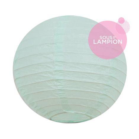 mini lanterne papier vert mint pastel pour une décoration de chambre ou d'anniversaire