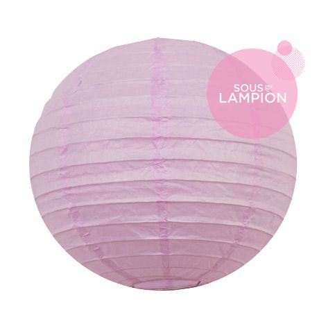 Petite lanterne en papier violet clair pour une décoration murale de chambre de fille ou garçon