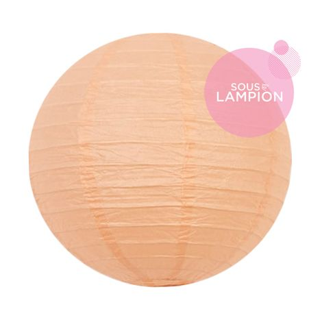 Paper lantern - 20cm - Pastel peach