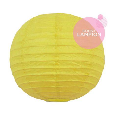Petite lanterne en papier jaune pour décoration de mariage