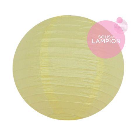 petite lanterne en papier jaune pastel pour décorer une fête, une chambre