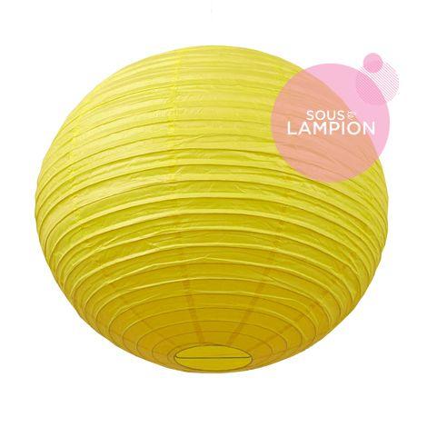grande lanterne chinoise jaune vif déco mariage